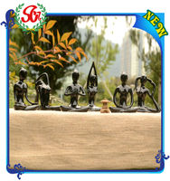 Six Style Black Color Garden Decoration Yoga Frog Figurine