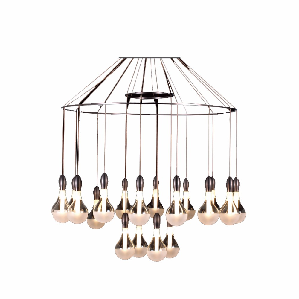 Incandescent Light Source and metal Material nice chandeliers on sale OZ-AL755