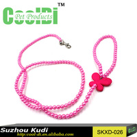 Beautiful designs dog walking belt chain dog ropes pearl dog chain
