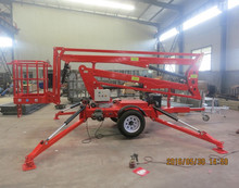Hydraulic telescopic towable cherry picker lift for sale