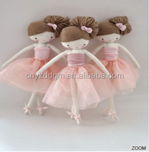 Wholesale China Fabric Cotton Cheap Handmade Cloth Lovely stuffed ballet Rag Doll