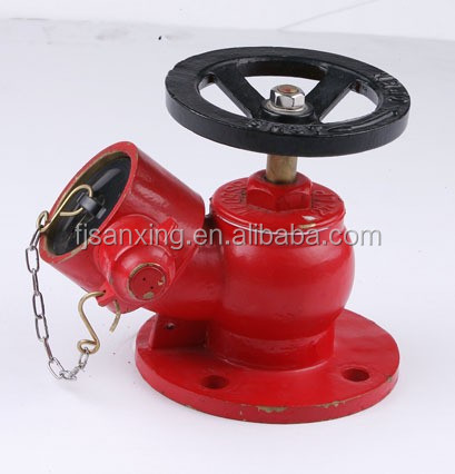 "Fire fight products 2.5'' (65mm )1.5""(40mm ) Flange Type Fire Hydrant Brass Landing Valve"