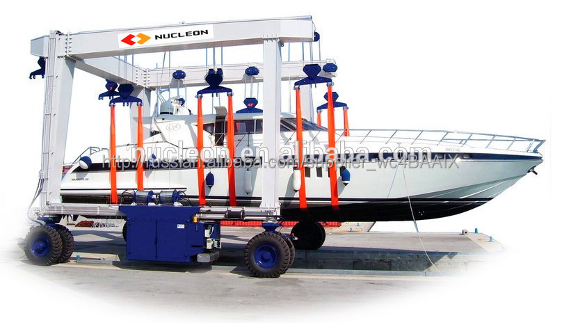 Nucleon 100 ton Mobile Boat Lifting Cranes