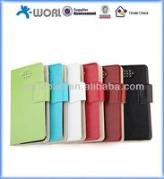 "Slim Universal Leather Case Cover for 3.5-6.3"" inch mobile phones ,galaxy s5"