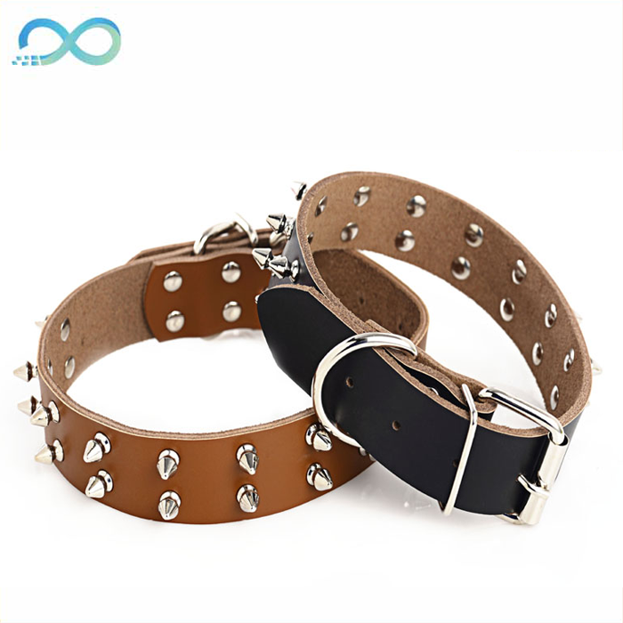 Crystal Bowknots Cattle Skin pet Collar