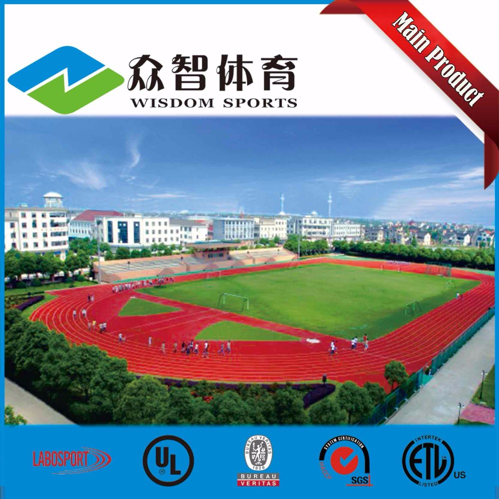 IAAF colorful granulated epdm rubber flooring for running track