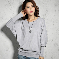 Loose and Softextile Lady Clothes Long Sleeve 100% Cotton Mens T shirt