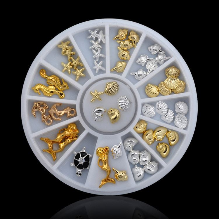 New selling custom design nail rhiestone wheel with many colors
