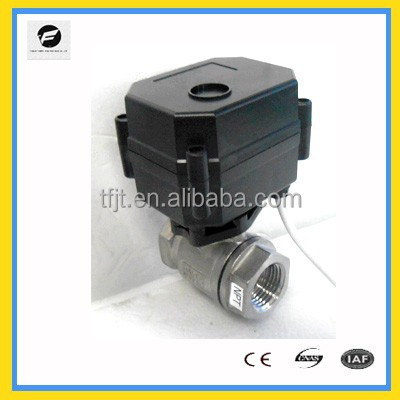 "Hot sale cwx-15n motor ball DC12V valve 1/2"" ss304 from the <strong>manufacturer</strong> ,SS304 ball valve cwx-15q motorized ball valve"