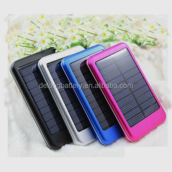 Solar cell power bank, 5000mah battery charger solar power bank for all smart mobile phone