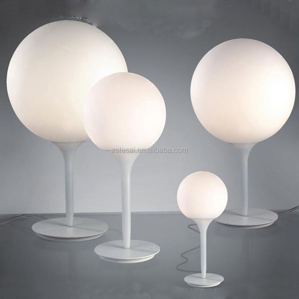 Italy design contemporary table lamps for bed side with glass lamp shades LT5499W