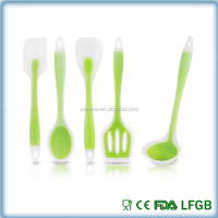 Kitchen Utensil Set 5 Piece Tool Spoon Spatula Classic Gadget silicone New Cooking