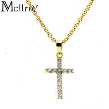 Mcllroy Fashion jewelry accessories Geometry Pendant necklaces Copper&Zircon Adjustable Belief Cross chain Ladies Women necklace