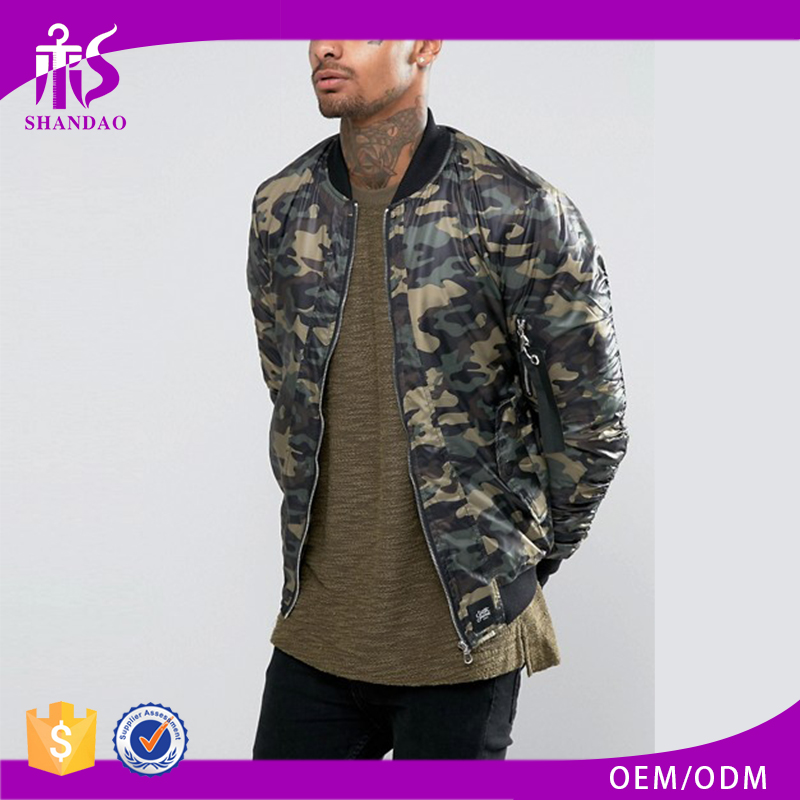 2017 Gaungzhou Shandao Wholesale Men Winter Camo Print Long Sleeve Hunting Jacket
