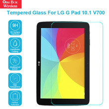 100% Brand New Mobile Accessories For LG G Pad 10.1 V700 9H Hardness 2.5D Round Edge Laptop Tempered Glass Screen Protector