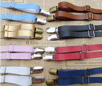 Fashion PU braces suspenders for trousers for women or for men
