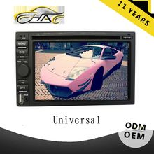touch screen 2din dvd player for universal car radio with bluetooth USB/SD