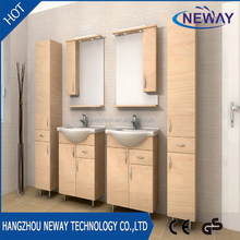 High quality PVC style selections bathroom vanities with side cabinet