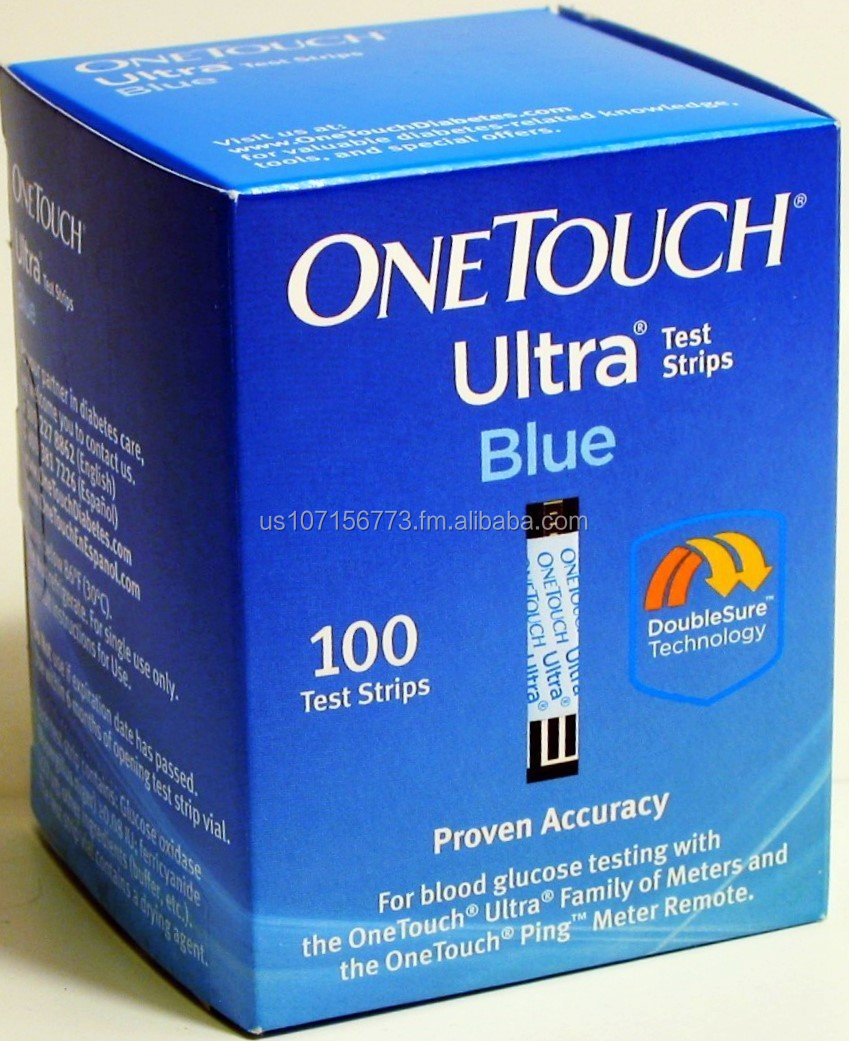 OneTouch Ultra Test Strips Blue, 100 count (Pack of 1)