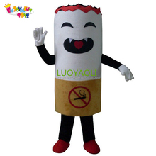 Enjoyment CE adults cigarette mascot costume/mascotte for sale