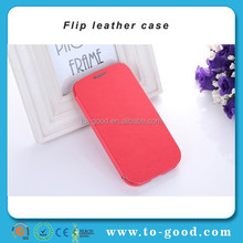 2015 Promotional Leather Custom Flip Stand Mobile Phone Cover For Samsung Galaxy S3 Case (Red)