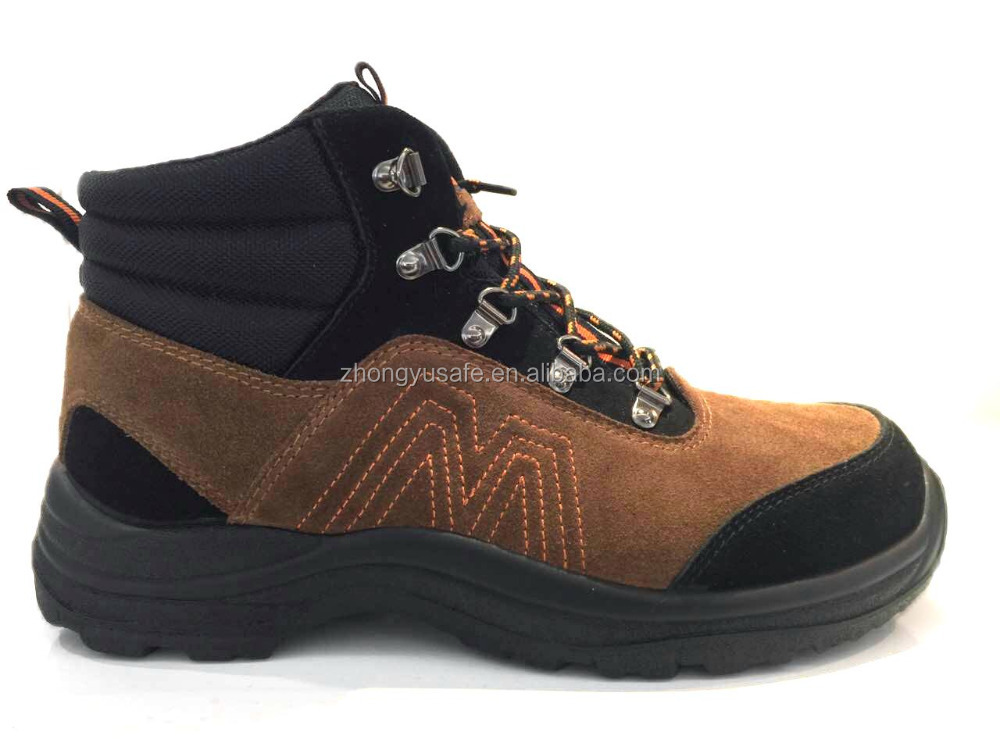 Nubuck Leather Shoes/Safety Protective Boot/Secure Toe Safety Shoe