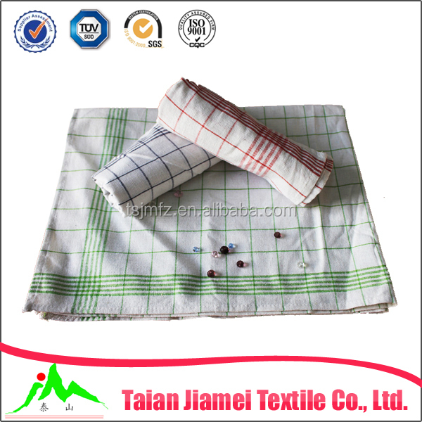 latest product custom design yarn dyed dish towel kitchen towel plain white linen tea towel