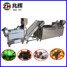 Vegetable cutting washing processing line