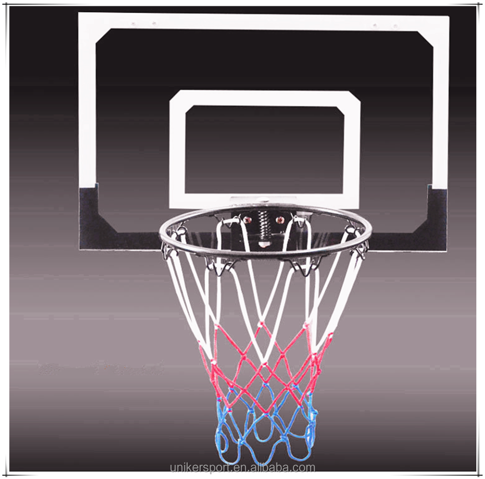 Professional plastic customized mini indoor basketball door hoop set