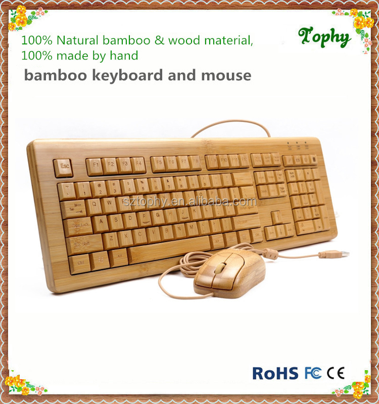 The fashionable and best Wooden keyboard and mouse, latest Wired Bamboo Keyboard and mouse