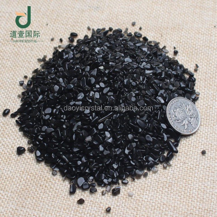 Wholesale classic small size natural black obsidian tumbled stone for sale