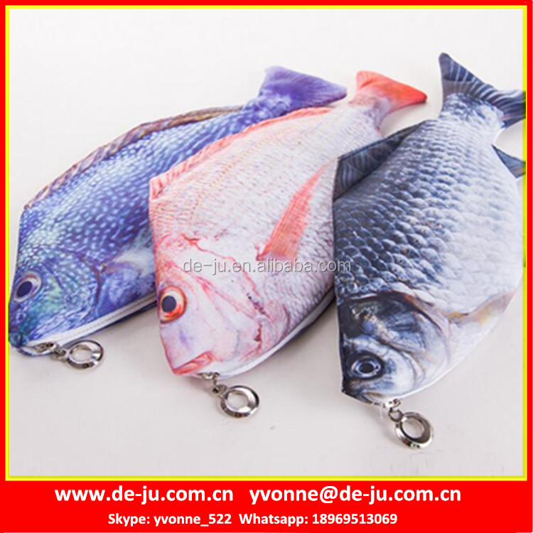 Lifelike Fish Style Pouch Pencil Bag