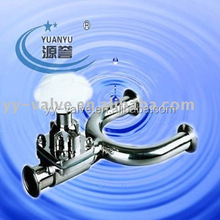 hygienic/sanitary stainless steel 316L aseptic clamp/weld/flange 3 three way square body Non retention diaphragm valve