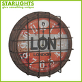 Metal retro Promotional home decor wall clock