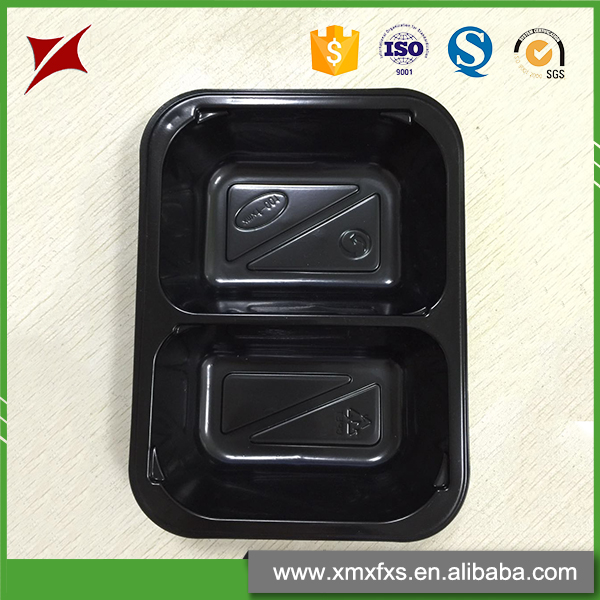 High temperature resistant microwaveable food tray blister process CPET plastic food container