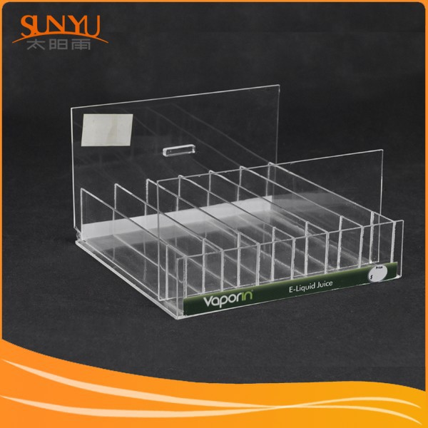 Manufacturer Supply Customzable Compartment Compartment Clear Acrylic E-liquid Juice Display Rack