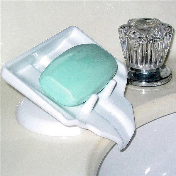 soap dish saver waterfall drain/STOP mushy soap clean & dry Plastic Soap Holder
