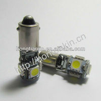 BA9S SUPER WHITE 5 SMD LED LICENSE PLATE LIGHT BULBS LAMPS CANBUS