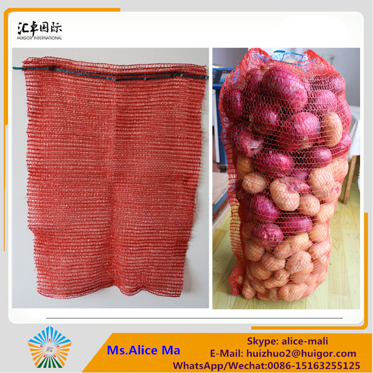 40kg 50x80 Raschel mesh net bag for potatoes