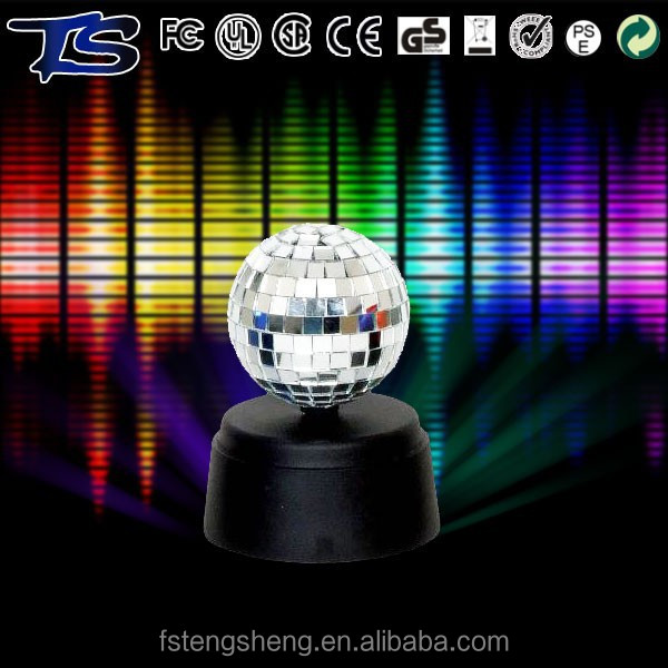 Christmas decoration spinning 3 inch small plastic mirror ball with LED motor
