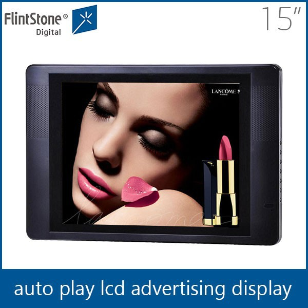 Flintstone 15 inch mini usb audio player consumable electronics lcd advertising screen