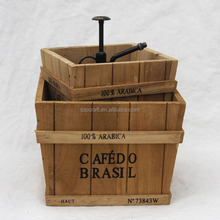 2015 Country Rustic Vintage Wood Decorative wooden top open boxes