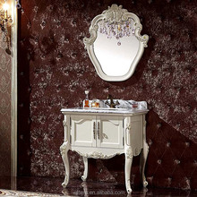 Shabby Chic Carved Wood Bathroom Vanity Units,Handmade Unusual Bathroom Furniture with Mirror WTS607