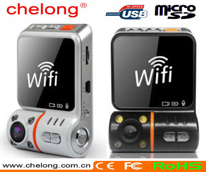 Chelong car gps 120 wide angel Night vision wifi car dashcam gps