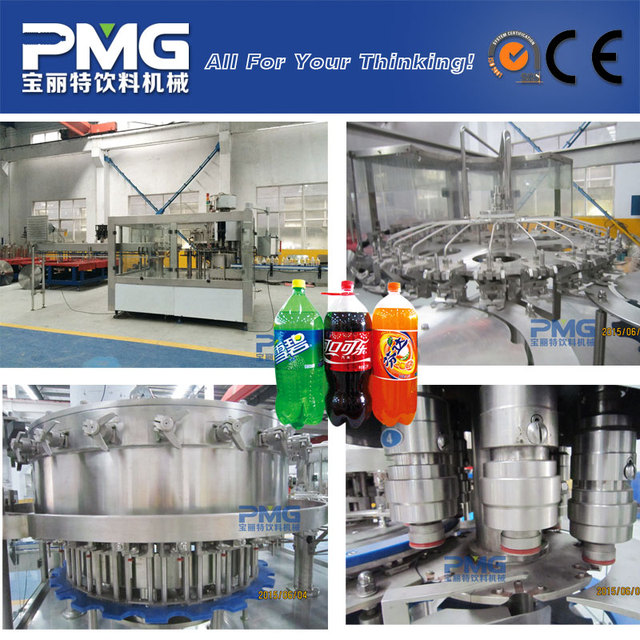 PMG Automatic 3-in-1 carbonated soft drink filling machine / beverage bottling equipment