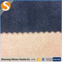 New Style 95%Polyester 5%Spandex shaoxing Suede textile Fabric