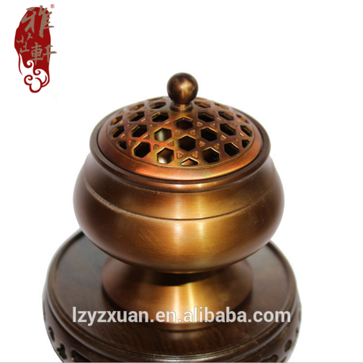 Yzxuan new design brass types copper incense burner