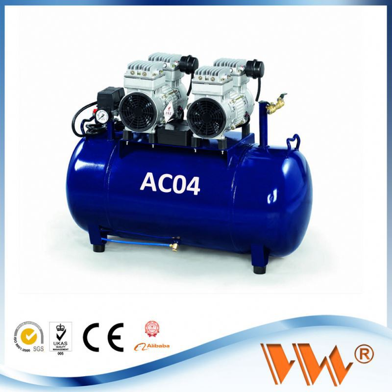 China hot sell cheap silent oilless dental air compressor air dryer