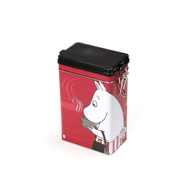 square -shaped Small Coffee Tin Box