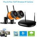 2ch Wireless System NVR Kit With 720P Outdoor IP Camera CCTV KIT WIFI Best Security Cameras